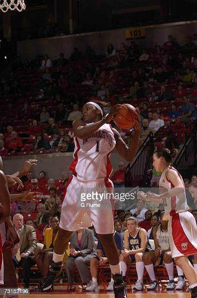 Crystal Langhorne of the Maryland Terrapins grabs a rebound against George Washington Colonials November 19 2006 at Comcast Center in College Park...
