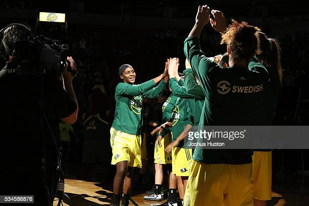 Crystal Langhorne of the Seattle Storm before the game against the Washington Mystics on May 26 2016 at Key Arena in Seattle Washington NOTE TO USER...