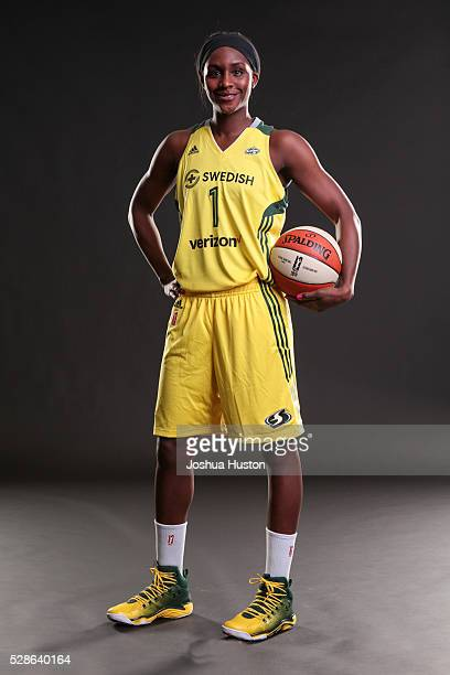 Crystal Langhorne of the Seattle Storm poses for a photo during media day at Key Arena in Seattle Washington May 05 2016 NOTE TO USER User expressly...