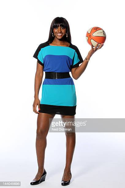 Crystal Langhorne of the Washington Mystics poses for a photo during 2012 Washington Mystics media day on May 8 2012 in Washington DC NOTE TO USER...