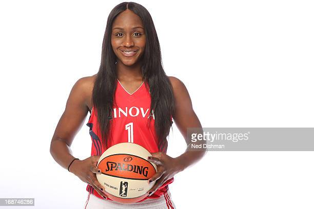 Crystal Langhorne of the Washington Mystics poses for a photo during 2013 Washington Mystics media day at the Verizon Center on May 9 2013 in...