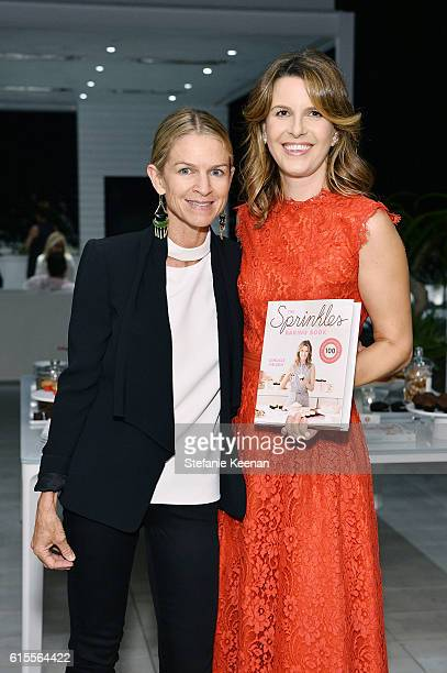 Crystal Lourd and Candace Nelson attend The Sprinkles Baking Book by Candace Nelson PreRelease Party on October 18 2016 in Beverly Hills California
