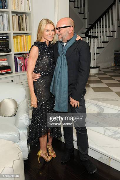 Crystal Lourd and Eric Buterbaugh attend Gwyneth Paltrow Celebrates Windsor Smith's Homefront on June 8 2015 in Los Angeles California