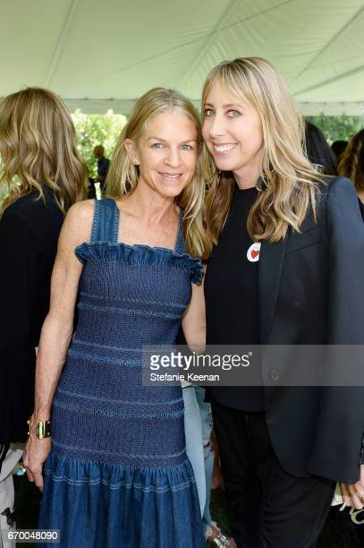 Crystal Lourd and Eve Gerber attend the annual HEART Brunch featuring Stella McCartney on April 18 2017 in Los Angeles California