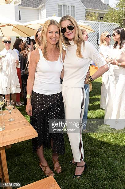 Crystal Lourd and Kelly Stein attend HEART Brunch featuring Stella McCartney on April 10 2015 in Los Angeles California