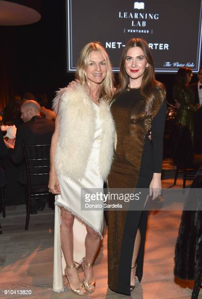 Crystal Lourd and Rochelle Gores Fredston attend Learning Lab Ventures Gala in Partnership with NETAPORTER on January 25 2018 in Beverly Hills...
