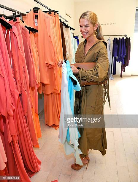 Crystal Lourd attends Juan Carlos Obando and his exclusive eveningwear collection hosted by Barneys New York at Barneys New York Beverly Hills on...