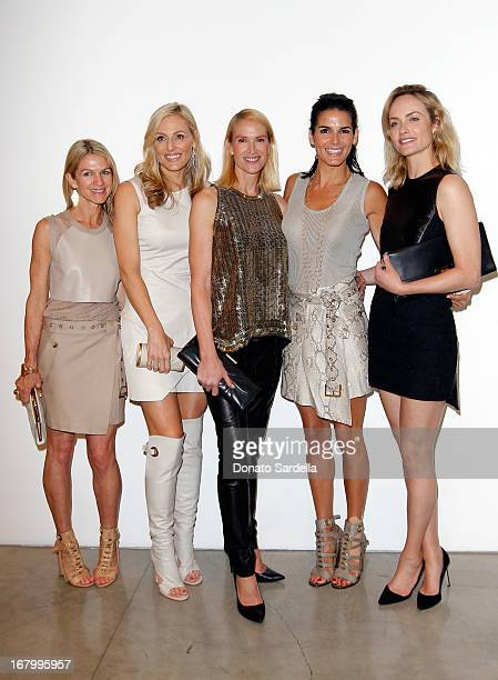 Crystal Lourd Jamie Tisch Kelly Lynch Angie Harmon and Amber Valletta attend a cocktail reception hosted by Ferragamo to announce the inaugural...