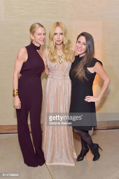 Crystal Lourd Rachel Zoe and Soleil Moon Frye attend Rachel Zoe Fall 2018 LA Presentation on February 5 2018 at The Jeremy Hotel in West Hollywood...