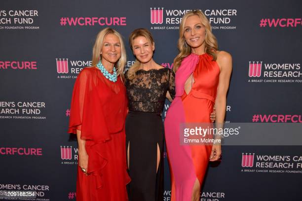 Crystal Lourd Renee Zellweger and Jamie Tisch attend WCRF's An Unforgettable Evening at Beverly Wilshire A Four Seasons Hotel on February 27 2020 in...