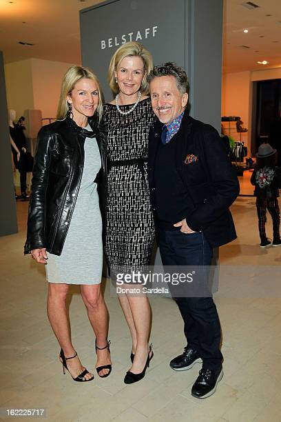Crystal Lourd Stephanie Booth Shafran and Simon Doonan attend the Belstaff Barneys LA Event at Barneys New York Beverly Hills on February 20 2013 in...