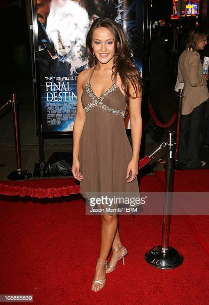 Crystal Lowe during Final Destination 3 Los Angeles Premiere at Grauman's Chinese Theatre in Hollywood California United States