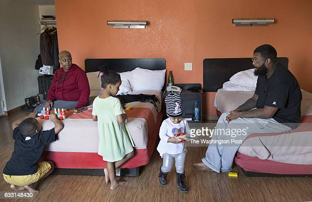 Crystal Luster and husband Robin Luster, Jr. With three of their five children King David Johnson-Scales, Spirit Scales and Heavenz Luster in their...