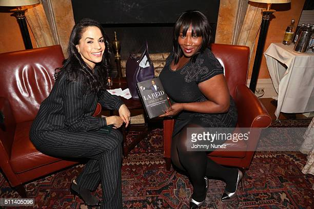 Crystal McCrary and Bevy Smith attend Frank Nina Cooper's Celebration of The Release Of LA Reid's Sing To Me at The Harvard Club on February 19 in...