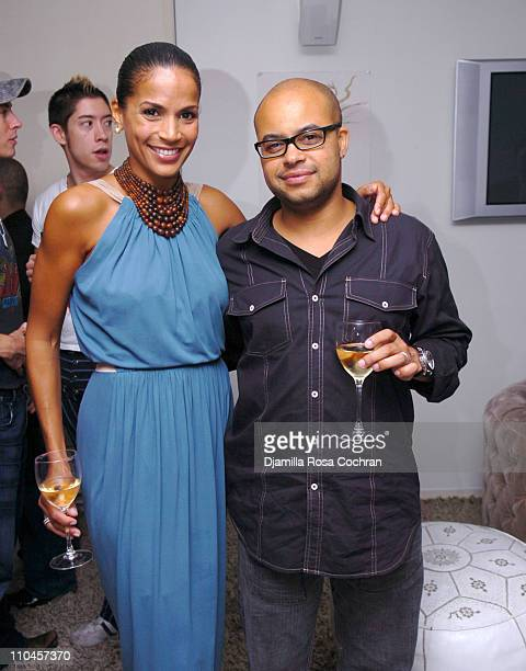 Crystal McCrary Anthony and Brett Wright during Dirty Laundry Screening at the Soho House June 8 2006 at Soho House in New York City New York United...