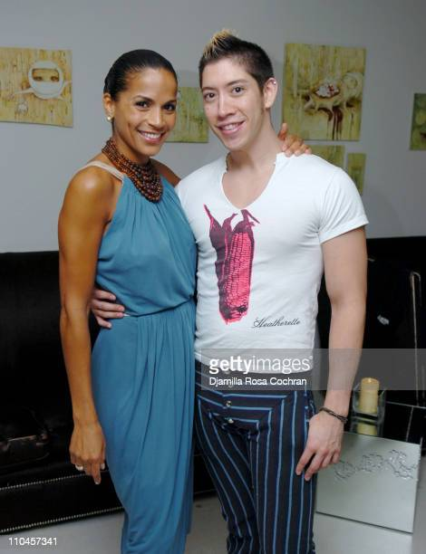 Crystal McCrary Anthony and Joey Costello during Dirty Laundry Screening at the Soho House June 8 2006 at Soho House in New York City New York United...