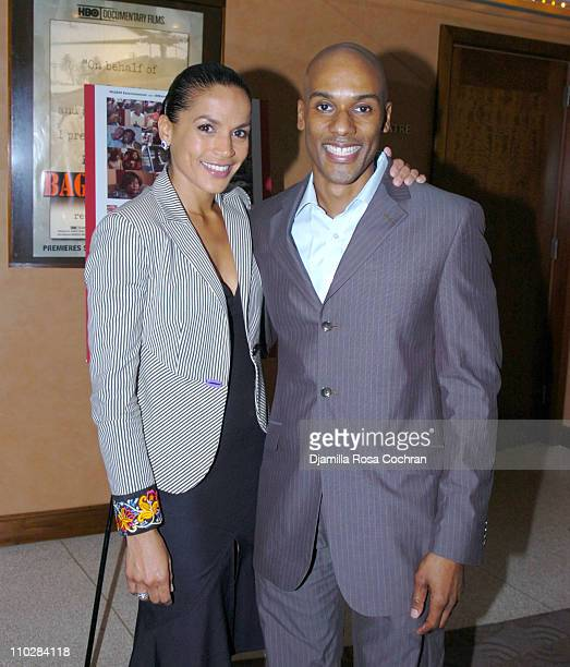 Crystal McCrary Anthony and Keith Boykin during HRC Presents Sneak Preview of Dirty Laundry May 19 2006 at HBO Building in New York City New York...