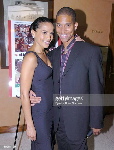 Crystal McCrary Anthony and Nathan Hale Williams during HRC Presents Sneak Preview of Dirty Laundry May 19 2006 at HBO Building in New York City New...