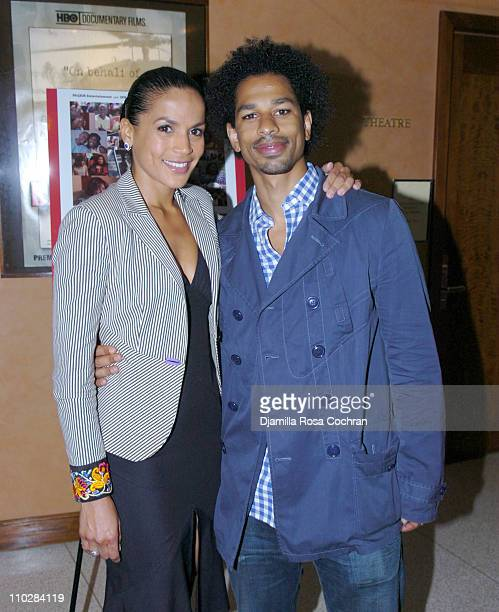 Crystal McCrary Anthony and Toure during HRC Presents Sneak Preview of Dirty Laundry May 19 2006 at HBO Building in New York City New York United...