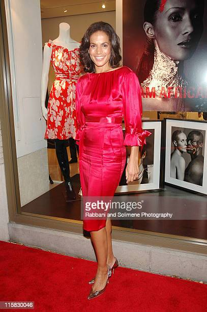 Crystal McCrary during Iman and Valentino Host Cocktail Reception Supporting Keep a Child Alive November 15 2006 at Valentino Boutique in New York...