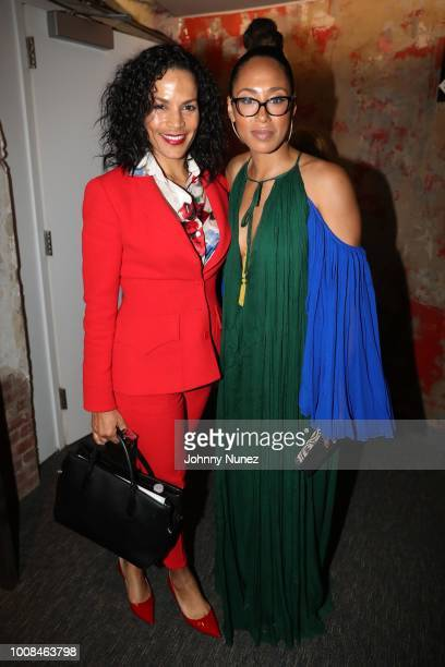 Crystal McCrary McGuire and Margot Bingham attend the 'BlacKkKlansman' New York Premiere at Brooklyn Academy of Music on July 30 2018 in New York City