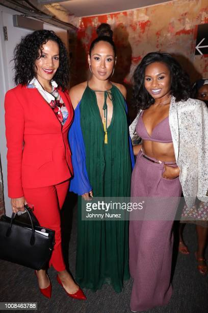 Crystal McCrary McGuire Margot Bingham and Chyna Layne attend the 'BlacKkKlansman' New York Premiere at Brooklyn Academy of Music on July 30 2018 in...