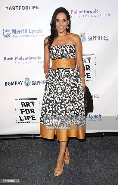 Crystal McCreary attends the Rush Philanthropic Arts Foundation's Annual Art for Life Benefit at Fairview Farms on July 16 2016 in Water Mill New York