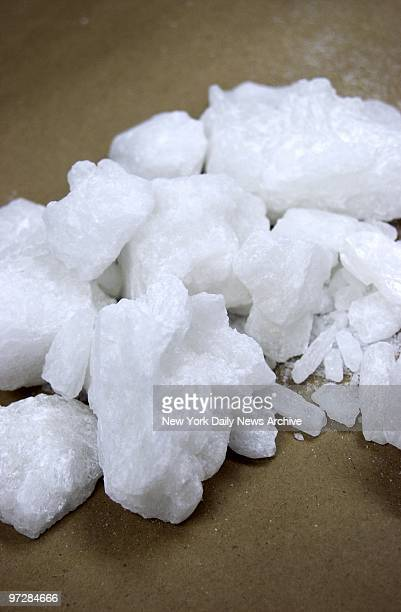 Crystal methamphetamine is on display at the New York office of the Drug Enforcement Administration where it is being held as evidence