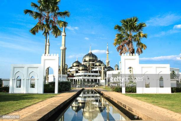 Crystal Mosque Against Blue Sky