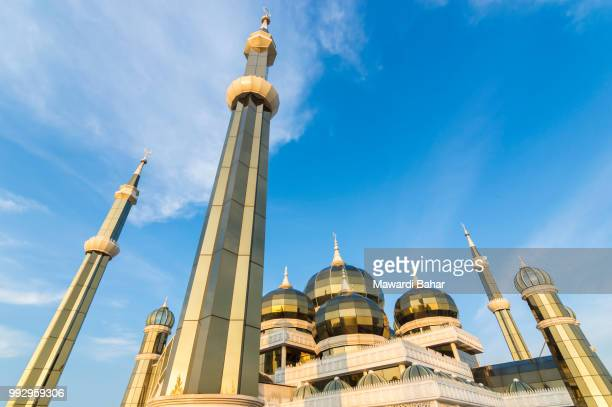 crystal mosque at terengganu, malaysia - crystal mosque stock pictures, royalty-free photos & images