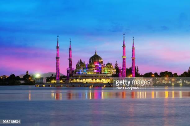 Crystal mosque in Kuala Terengganu, Malaysia.
