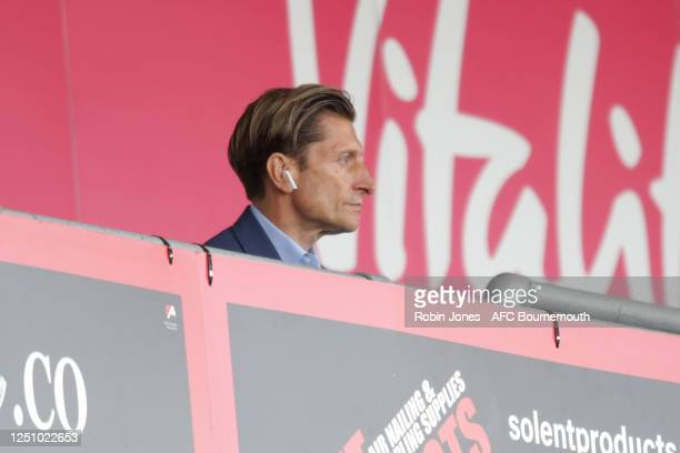 Crystal Palace Chairman Steve Parish during the Premier League match between AFC Bournemouth and Crystal Palace at Vitality Stadium on June 20 2020...