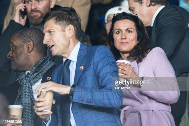 Crystal Palace Chairman Steve Parish with girlfriend Susanna Reid at Selhurst Park during the Premier League match between Crystal Palace and Burnley...