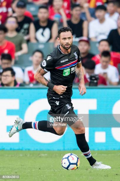 Crystal Palace defender Damien Delaney in action during the Premier League Asia Trophy match between West Brom and Crystal Palace at Hong Kong...