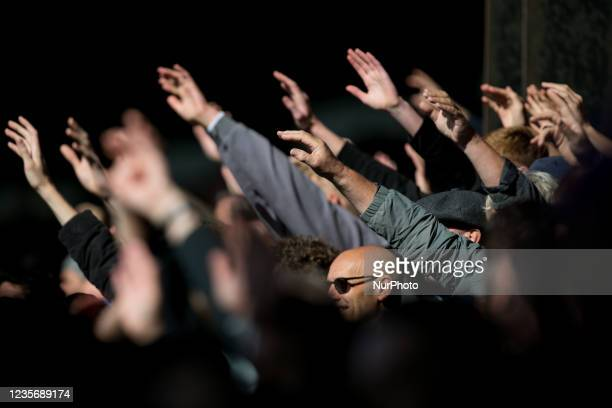 Crystal Palace fans cheers on during the Premier League match between Crystal Palace and Leicester City at Selhurst Park, London on Sunday 3rd...