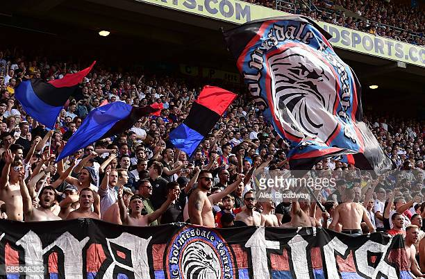 Crystal Palace fans during the Premier League match between Crystal Palace and West Bromwich Albion at Selhurst Park on August 13 2016 in London...