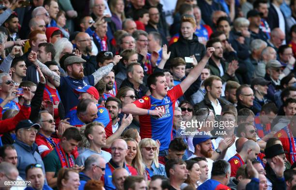 Crystal Palace fans during the Premier League match between Crystal Palace and Hull City at Selhurst Park on May 14 2017 in London England