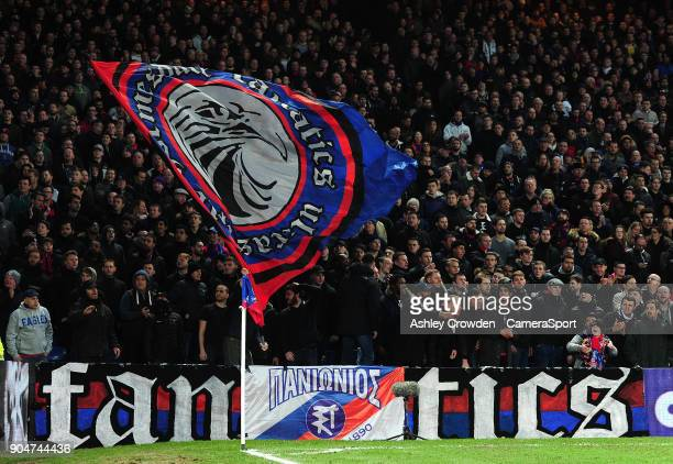 Crystal Palace fans during the Premier League match between Crystal Palace and Burnley at Selhurst Park on January 13 2018 in London England