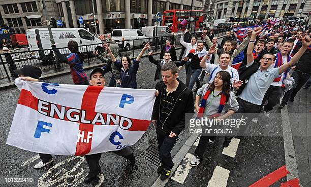Crystal Palace FC supporters react to news in central London on June 1 2010 Cashstrapped Crystal Palace look set to avoid extinction after a...