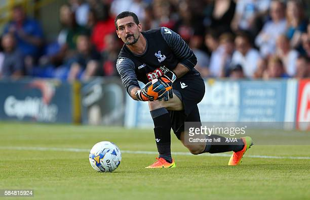 Crystal Palace goalkeeper Julian Speroni during the PreSeason Friendly match between AFC Wimbledon and Crystal Palace at The Cherry Red Records...