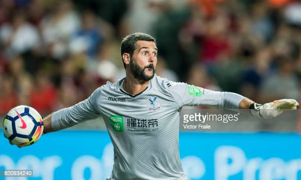 Crystal Palace goalkeeper Julian Speroni in action during the Premier League Asia Trophy match between West Brom and Crystal Palace at Hong Kong...