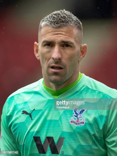 Crystal Palace goalkeeper Vicente Guaita during the Premier League match between Sheffield United and Crystal Palace at Bramall Lane on May 8, 2021...