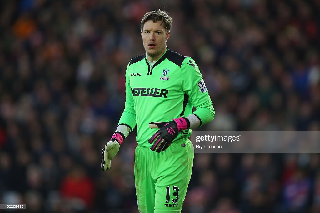 Crystal Palace goalkeeper Wayne Hennessey looks on during the FA Cup Fourth Round match between Southampton and Crystal Palace at St Mary's Stadium on January 24, 2015 in Southampton, England.