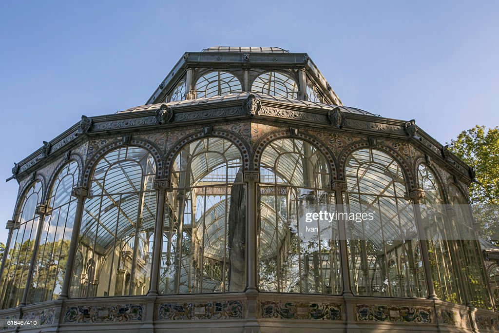 Crystal Palace In Retiro Park Madrid Spain Stock Photo | Getty Images