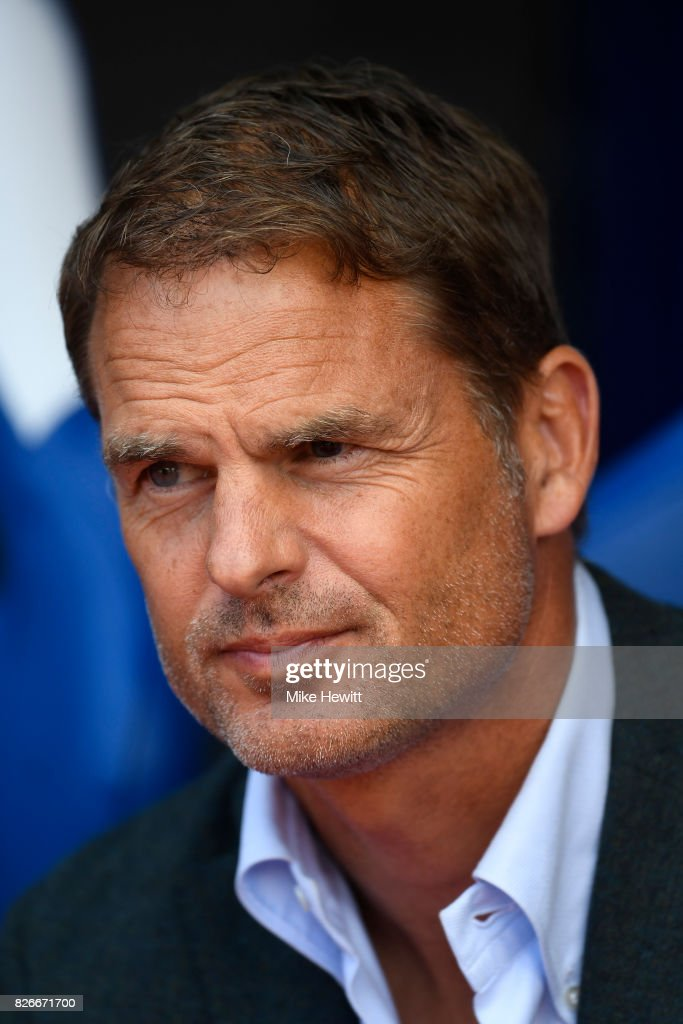 Crystal Palace manager Frank de Boer looks on during a Pre Season Friendly between Crystal Palace and FC Schalke 04 at Selhurst Park on August 5, 2017 in London, England.
