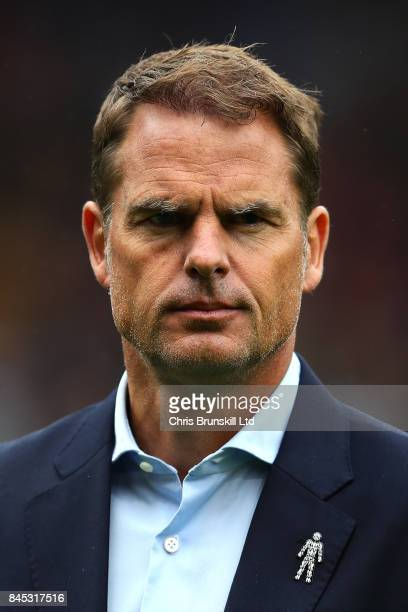 Crystal Palace manager Frank De Boer looks on during the Premier League match between Burnley and Crystal Palace at Turf Moor on September 10 2017 in...