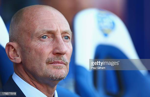Crystal Palace manager Ian Holloway looks on during the Barclays Premier League match between Crystal Palace and Sunderland at Selhurst Park on...