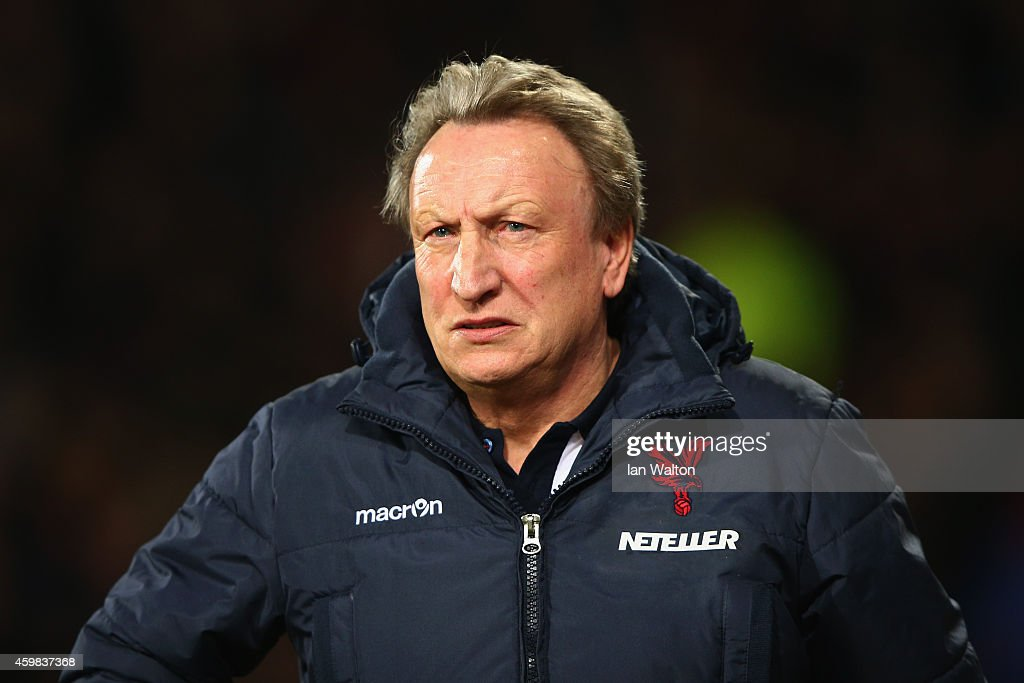Crystal Palace manager Neil Warnock looks on before kick off during the Barclays Premier League match between Crystal Palace and Aston Villa at Selhurst Park on December 2, 2014 in London, England.