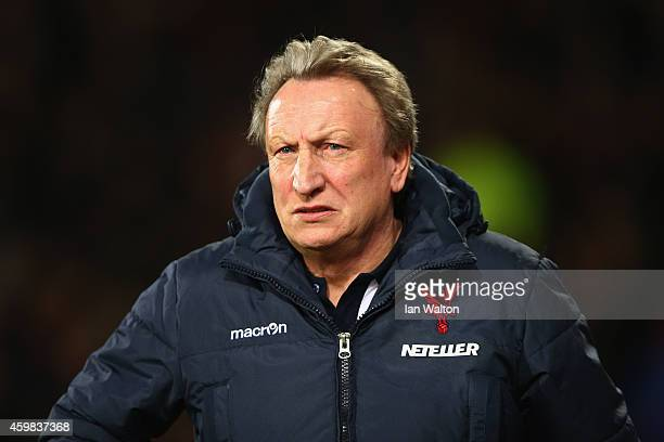 Crystal Palace manager Neil Warnock looks on before kick off during the Barclays Premier League match between Crystal Palace and Aston Villa at...