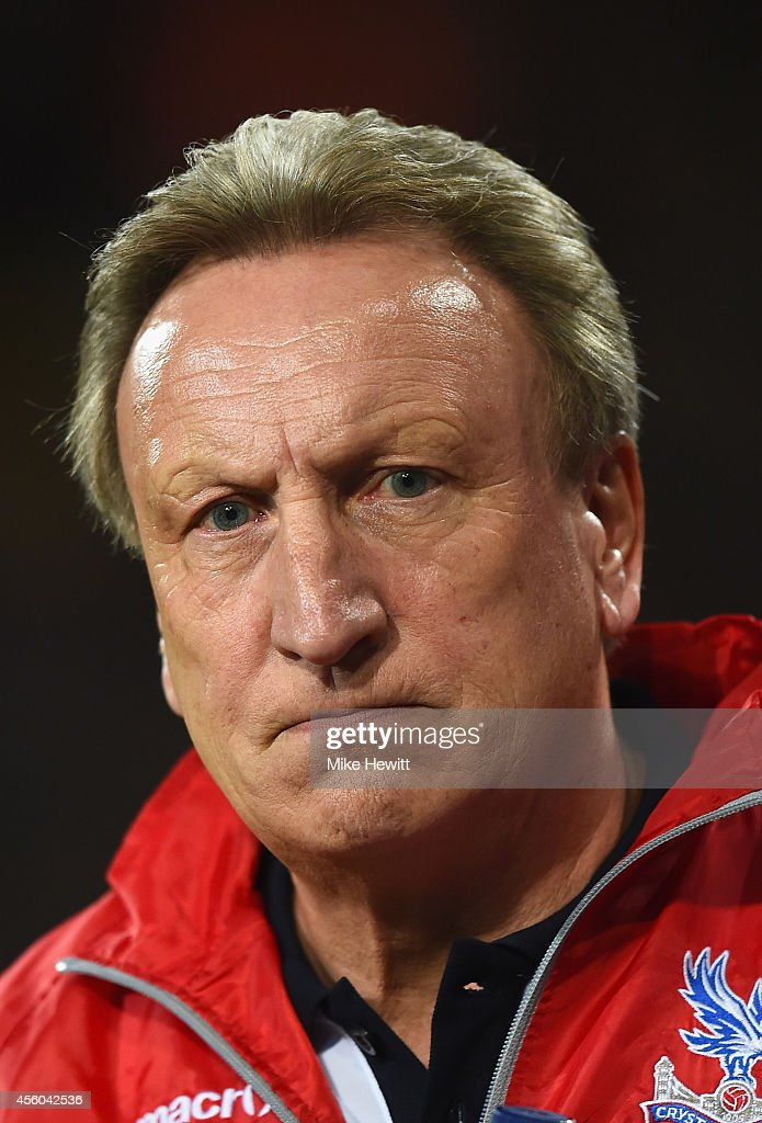 Crystal Palace manager Neil Warnock looks on during the Capital One Cup Third Round match between Crystal Palace and Newcastle United at Selhurst Park on September 24, 2014 in London, England.